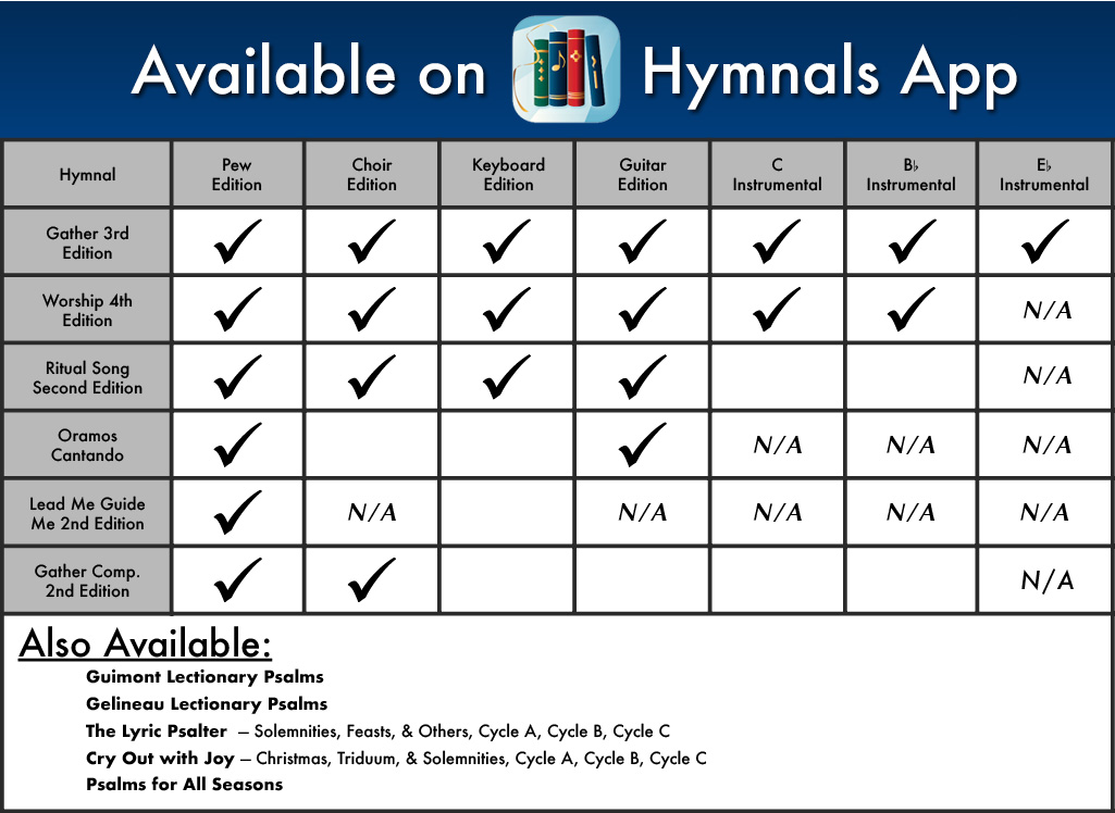 GIA Publications - hymnals application