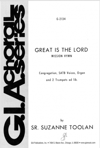 Great is the Lord - SATB edition