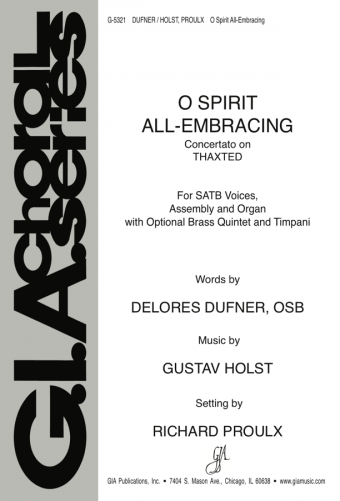 O Spirit All-Embracing - Full Score and Parts