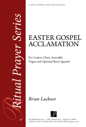 Easter Gospel Acclamation - Full Score and Parts