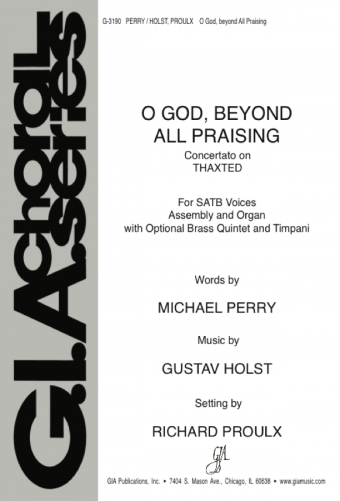 O God beyond All Praising - Full Score and Orchestral Parts