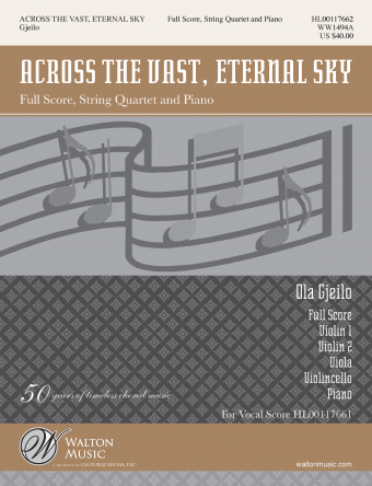 Across the Vast, Eternal Sky (Full Score and Instrumental Parts)