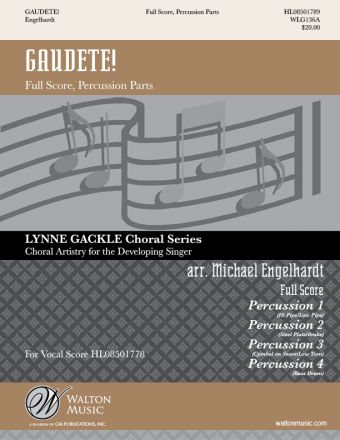 Gaudete! - SSA (Full Score and Percussion Parts)