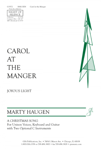 Carol at the Manger - Instrument edition