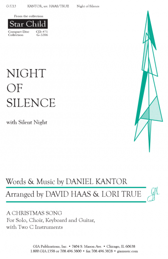 picture relating to Silent Night Lyrics Printable identified as GIA Textbooks - Evening of Silence / Tranquil Evening