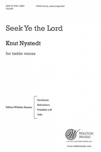 Seek Ye the Lord